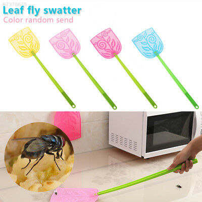 C9F6 Fly Swatter Bug Handheld Insect Killer Pest Control Durable Leaf Plastic
