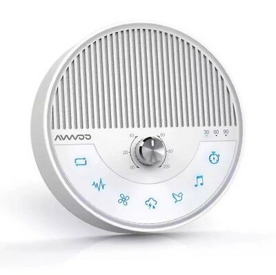 White Noise Machine - AVWOO Nature Sounds Sleep Machine Non-Looping Sound Therap