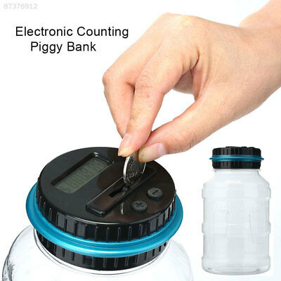 66D0 Electronic Digital LCD Counting Coin Saving Pot Money Boxes Showing Piggy