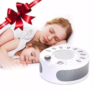 White Noise Machine, Liaboe Sound Machine with 9 Soothing Non-Looping Sounds,