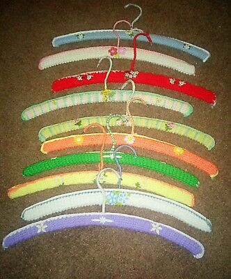 Vintage Handmade Crochet & Needlepoint (No Slip)Clothes Hangers Estate Sale NICE