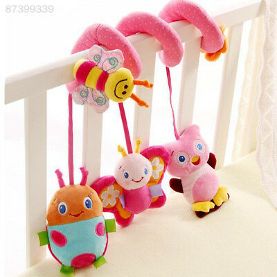 668A Lovely Baby Cot Spiral Hanging Decoration Ladybug Decor Stroller Toys Gifts