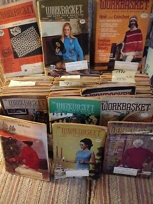 Vintage Lot The Workbasket Magazines Lot of 125  booklets  from1952-1990