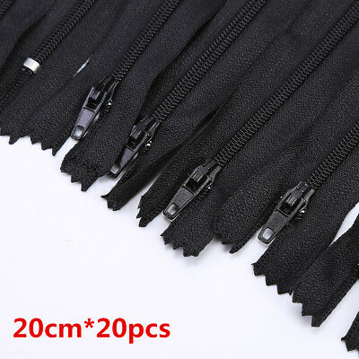 20cm DIY Closed End Nylon Coil Zipper Sewing Clothes Cushion Pillow Tailor Tool