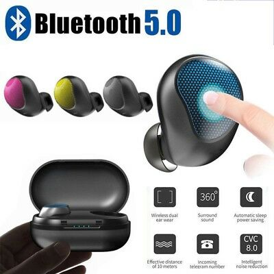 NEW Wireless Bluetooth 5.0 Earbud Mini Headset Touch Control 3D Stereo Headphone