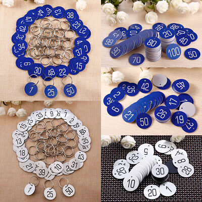 Number 1-100 30mm ABS Engraved Number Discs Club Gym Locker Pub Table Tag Hotel