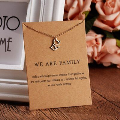 Fashion Elegant Animal Cat Choker Card Necklace Pendant Charm Women Friends Gift