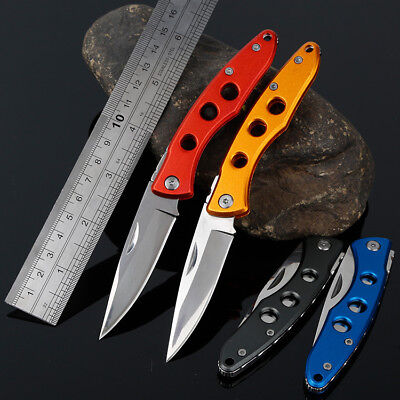 Outdoor Camping Fishing Hunting Mini Pocket Folding Knife Stainless Steel