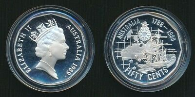 Australia 1989 50c Bicentenary Masterpieces in Silver Proof Coin