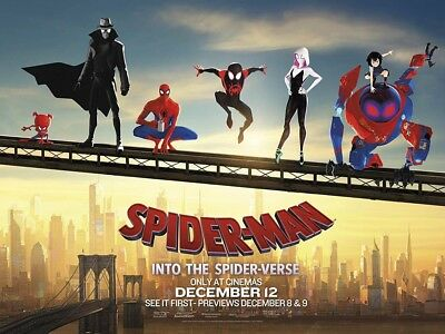 """1 Spider-man: Into The Spider-verse WIDE Movie Vinyl Poster 12""""x18""""Reproduction"""