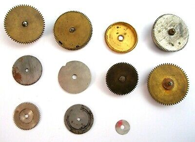 Vtg Watch Spring Barrels Steampunk Parts Gears Wheels Lot Repair Watchmaker