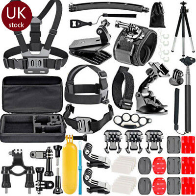 77pcs Outdoor Camera Accessories For GoPro Hero 2 3 4 5 6 Cam Mount Tripod Set