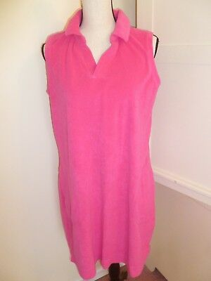 17b0050dd45a3 ADONNA WOMENS TERRY Zip-Up Beach Coverups Pink Embellished Side ...
