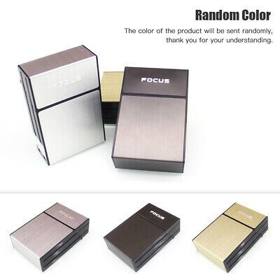 Men Cigarette Holder Case Box With Windproof Removable Usb Charging Lighter Pour