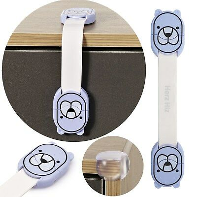 Cupboard Cabinets Strap Locks Child/Baby Proof Safety Latches 10X 5X 2X