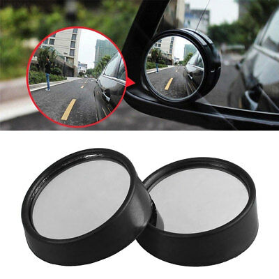 E431 2Pcs Car Vehicle Wide Angle Small Convex Blind Spot Dead Zone Rearview