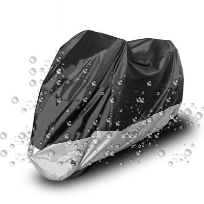 Size L Silver Motorcycle Scooter Waterproof UV Dust Protector Rain Cover new
