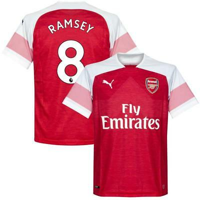 Arsenal Home Ramsey 8 Shirt 2018 2019 (Official Premier League Printing)