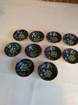 A Set Of 10 7cm China Bowls With Oriental Markings On Base