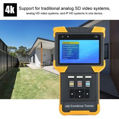 """DT-T70 CCTV Tester 4"""" HD 1080P IP Analog Camera Testing Home Office Safe Monitor"""