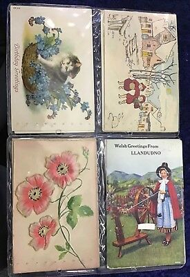 Album - 60 Mixed Postcards Mainly Novelty - Greeting, Pull Outs, Hold To Light,