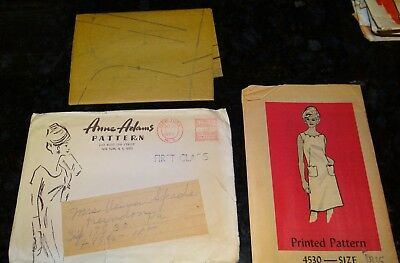 Vintage 1960's ANNE ADAMS Sewing Pattern #4530 Size 18.5 18-1/2 SLEEVELESS DRESS