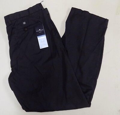 Mens Ex M&S Blue Harbour Stormwear Chino Trousers Navy Blue  NEW GA53