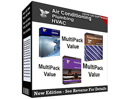 MULTIPACK - Refrigeration AC HVAC Plumbing Ventilation Training Books on CD