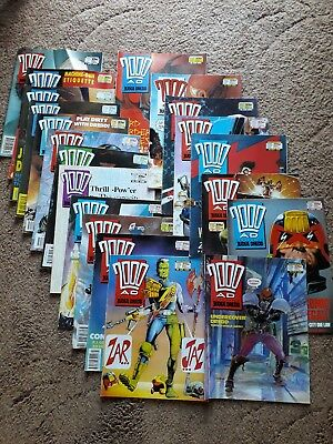 Job Lot 20 Editions of 2000AD Featuring Jedge Dredd - 29 Apr 1989 to 7 Oct 1989