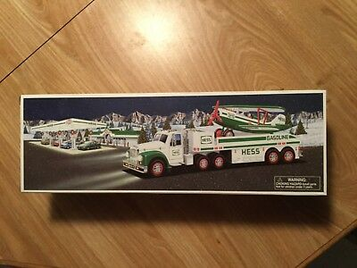 Vintage 2002 Hess Collectibles Toy Truck and Airplane Motorized BRAND NEW In Box
