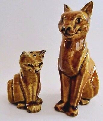 """ancient Cats * ""cleo & Raa"" * Salt & Pepper Shakers * Ceramic Arts Studio"
