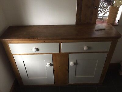 Victorian Welsh Dresser Base Height 37inches Depth 14 Inches & Width 54 Inches