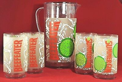 Beefeater Gin Pitcher Set Rubbermaid Tumblers