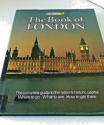 Travel Guide Books The Book of London UK City Exploration Dust Jacket Hardcover