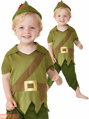 Baby Toddler Robin Hood Costume Boys Medieval Fancy Dress Kids Book Day Outfit