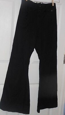 Wool sailor navy pants 13 anchor buttons front bib  40 years old