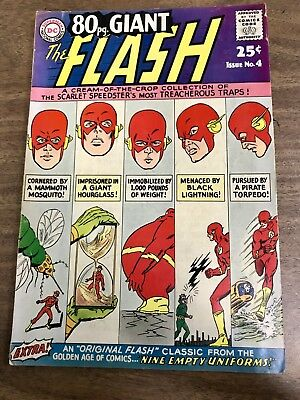 Key DC Comics: GIANT 80 pg special - The Flash #4 1964 - VG-  - Silver Age (25c)