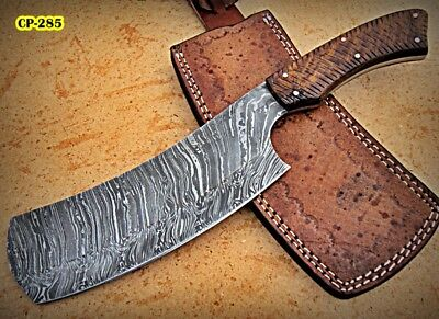 CP-285  Handmade Damascus Steel 12.00 Inches Cleaver Style Knife .