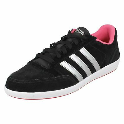 check out ae15c 27b68 Ladies Adidas Neo Lace Up BlackPink lace up Trainers Hoops VL W AW5372