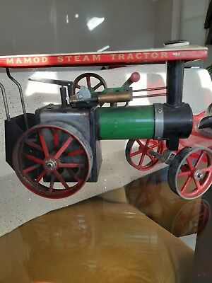 Vintage Mamod TE1A Live Steam Tractor Traction Engine-Boxed Working
