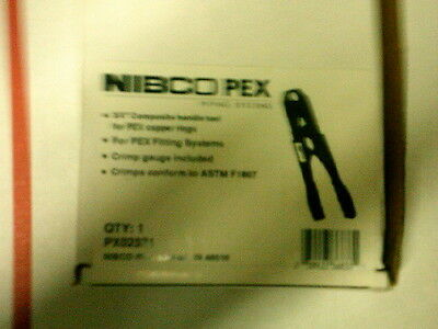 Nibco PEX Clamp Tool 4 SS Clamps 3/8, 1/2, 3/4, & 1 PX01291