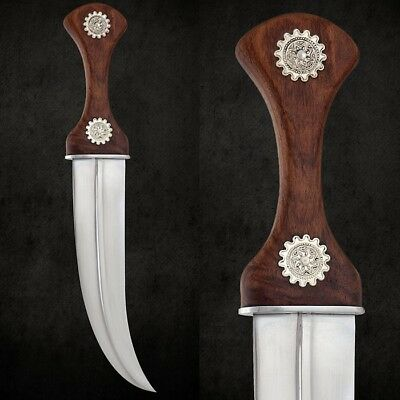Traditional Curved Jambiya Dagger with a Double Edged High Carbon Steal Blade