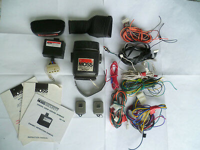 Vehicle Moss 707 remote control alarm system + MS 718 central locking interface