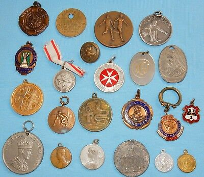 Vintage Medals & Fobs Collection Lot Mixed Collectables House Clearance Medical