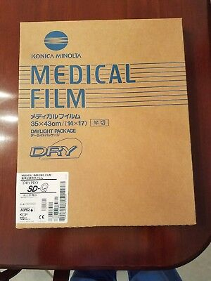 1 New Sealed Box of Konica Minolta Medical Imaging Film Drypro SD-Q 125 Sheets