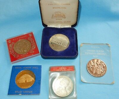 VINTAGE MEDALS COLLECTION LOT MIXED COLLECTABLES HOUSE CLEARANCE CROWNS Etc