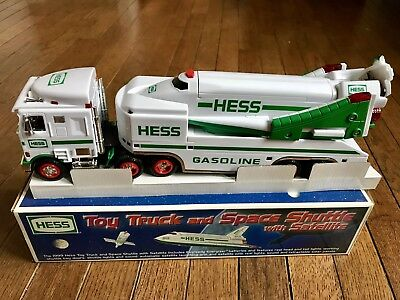 1999 Hess Toy Truck and Space Shuttle with Satellite Brand New W/box & inserts