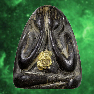 Powerful Thai Buddha Amulet PHRA PIDTA Pid Ta Wealth Talisman Magic Lucky Rich