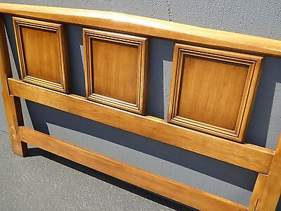 Vintage Mid Century Modern Wood Queen Size Headboard by White Furniture Co.