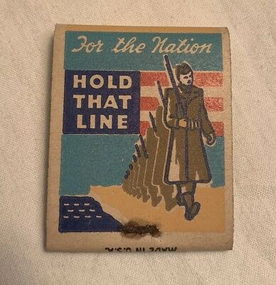 Original WWII, WW2 Patriotic Matches, Matchbook, Home Front